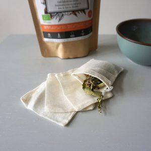 Sachets de thé réutilisables zéro déchet