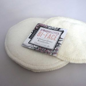 Coton ou disque à démaquiller réutilisable en coton et chanvre