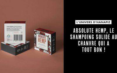 Absolute hemp, le shampoing solide au chanvre qui a tout bon !