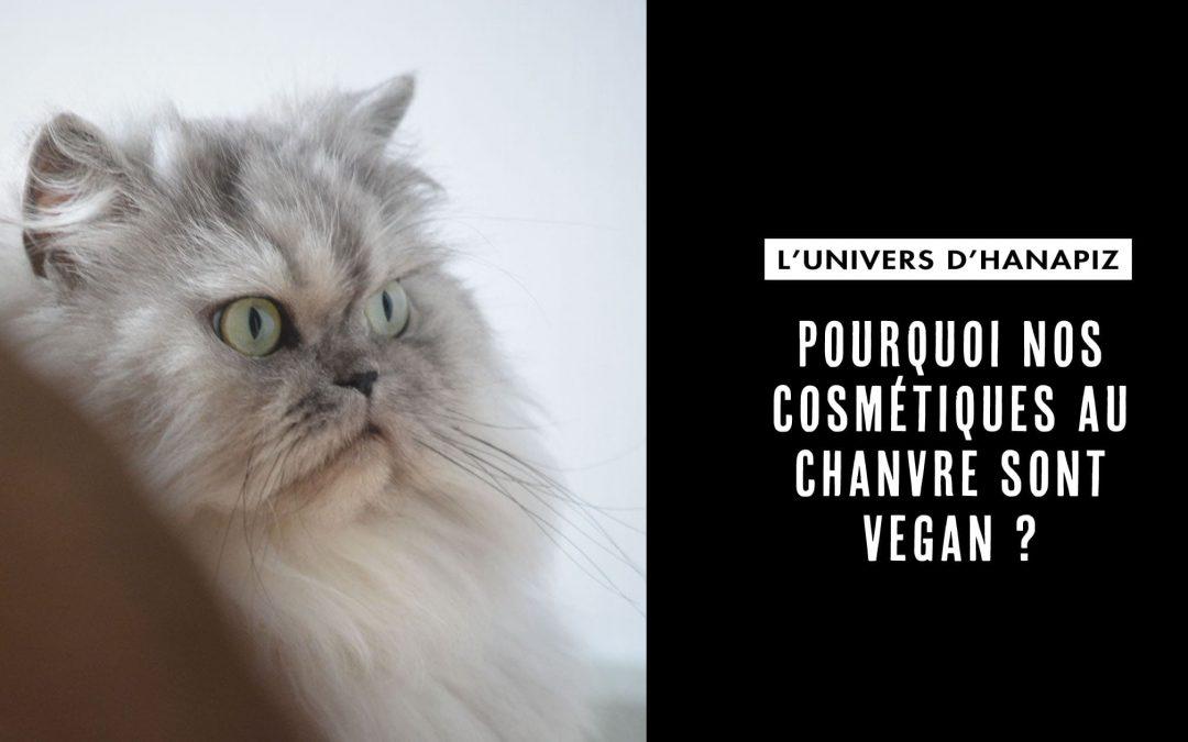 Pourquoi nos cosmétiques au chanvre sont vegan ?
